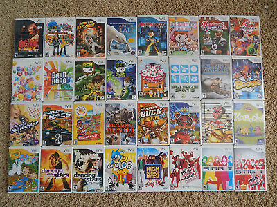 Nintendo Wii Games You Choose from Large Selection 4-95 Each