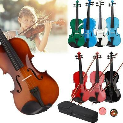 Student 44 Size Basswood Acoustic Violin Fiddle with Case Bow Rosin Colorful
