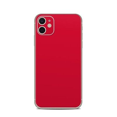 iPhone 11 Skin - Solid Red - Sticker Decal