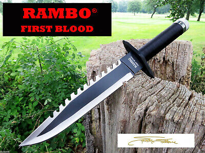 Rambo Messer  FIRST BLOOD Bowie Hunting Knife  Machete  Sylvester Stallone