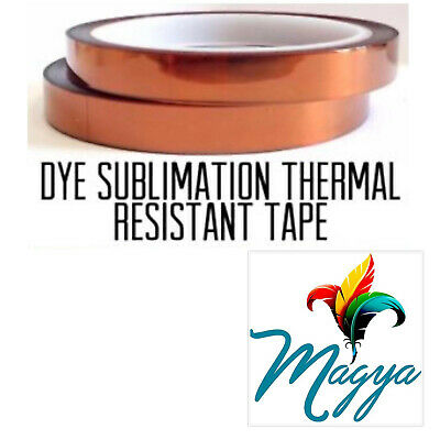 Heat Proof Thermal Tape Heat Resistant Sublimation Adhesive 10mm33m 2 rolls