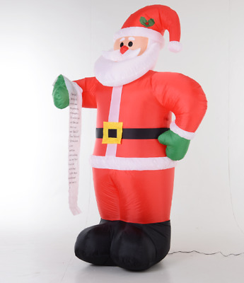 8Ft Outdoor Inflatable Christmas Lawn Decoration Lighted Airblown - Santa Claus