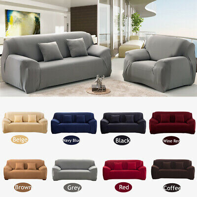1234 Seater Stretch Chair Sofa Covers Couch Cover Elastic Slipcover Protector