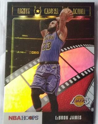 LeBRON JAMES 2019-20 Panini HOOPS LIGHTS CAMERA ACTION insert GOLD HOLO FOIL