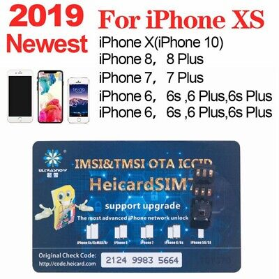 HEICARD UNLOCK Chip for iPhone X XS 8 7 Plus Unlocking Sim Card Newest ICCID