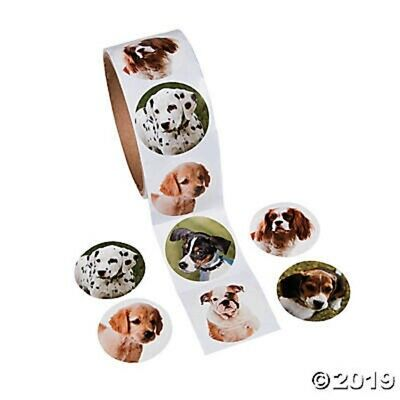 Puppy Dog Stickers Birthday Party Favors Roll of 100