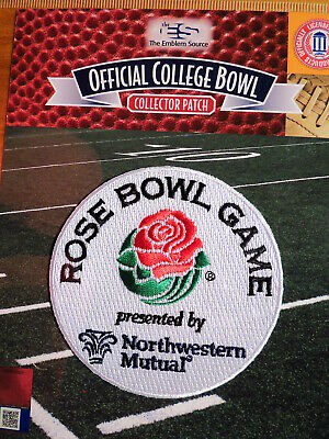 Official NCAA College Football Rose Bowl 201920 Patch Wisconsin vs Oregon