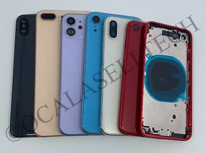 Replacement Back Glass Housing Battery Cover Frame Assembly Fits iPhone 8 Plus