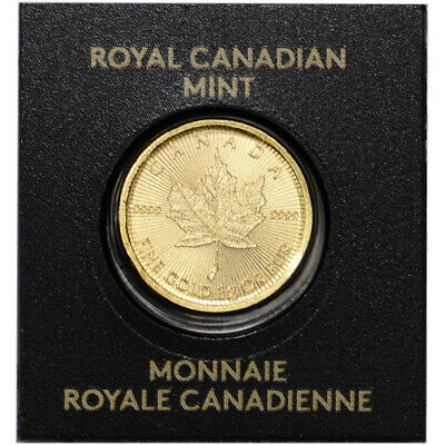1 gram Canada Gold Maple Leaf 50C from Gold Maplegram25™ 9999 Fine Random Date