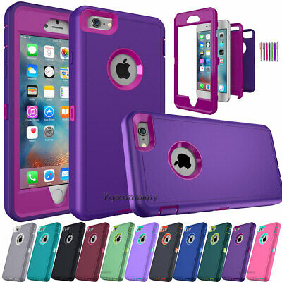 For iPhone 5S 6S 7 8 Plus XR 11 12 Phone Case Hybrid Shockproof Armor Hard Cover