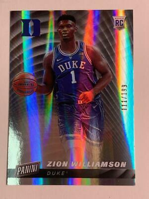 2019 PANINI CYBER MONDAY BASKETBALL ZION WILLIAMSON ROOKIE PARALLEL 111199