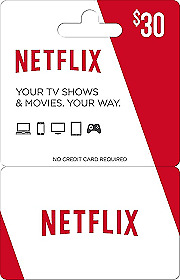 NETFLIX 30  dollars GIFT CARD  - Email delivery very fast