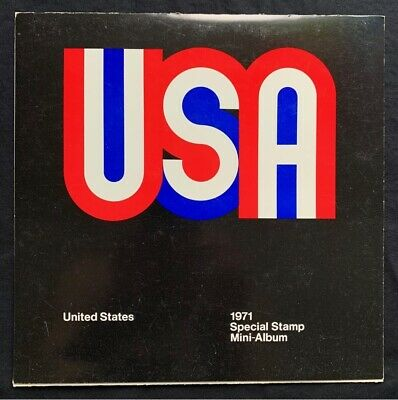 1971 US Mint Year Set in Original USPS Album - 23 Commemorative Stamps MNH Lot