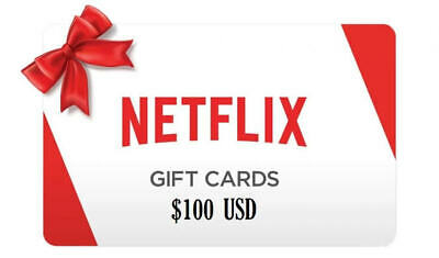 NETFLIX 100 GIFT CARD us  fast email   delivery