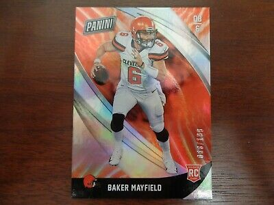 2018 Panini Black Friday Baker Mayfield ed 68199 ROOKIE CARD-Browns