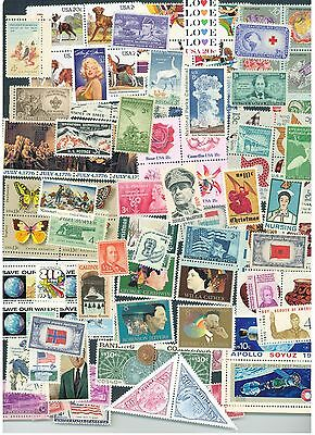 Lot of 50 different  MINT US Postage Stamps Vintage Packet MNH unused