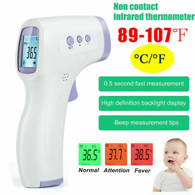 LCD Digital Non-contact IR Infrared Thermometer Forehead Body Head Temperature D