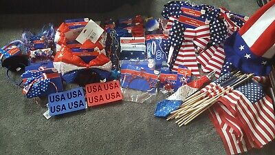 Patriotic 4th Of July Decor New- Huge LOT Huge savings- Fourth of July-