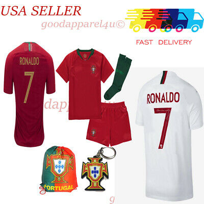 Portugal Ronaldo World Cup Kids Jersey Set 3 - 13 Yrs New w Tags