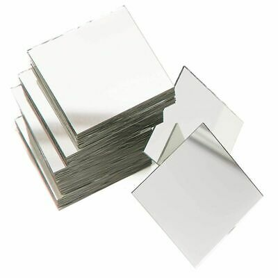 60Pcs Craft Square Mirror Mosaic Tiles 2 for DIY Projects Crafts Decorations