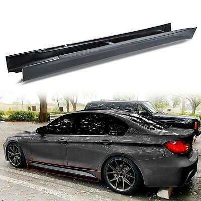 For 12-18 F80 M3 STYLE SIDE SKIRTS SET FOR ALL BMW F30 F31 3 SERIES SEDAN WAGON