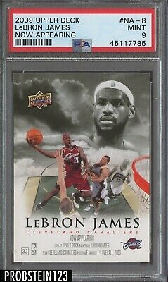 2009-10 Upper Deck Now Appearing LeBron James Cleveland Cavaliers PSA 9