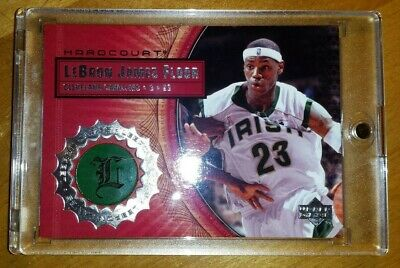 LEBRON JAMES 2003 UD HARDCOURT GAME USED FLOOR PIECE RC LB1 IN MAG CAVS LAKERS