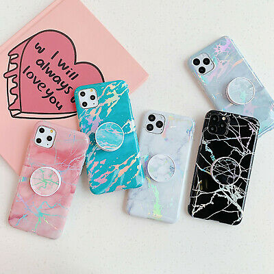 Marble Pattern Kickstand Holder Case for Apple iPhone 12 Pro Max 11 Xs Max 7 8-