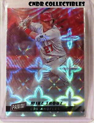 2019 Panini Cyber Monday GALACTIC WINDOWS Parallel SP Mike Trout 15 Angels 1725