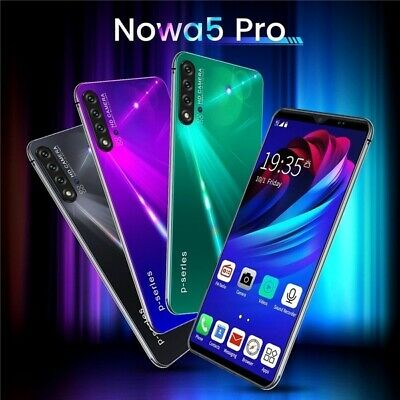 6-1 HD Screen Nowa5Pro Mobile Phone 6G-128G Android 9-1 Smartphone Dual SIM