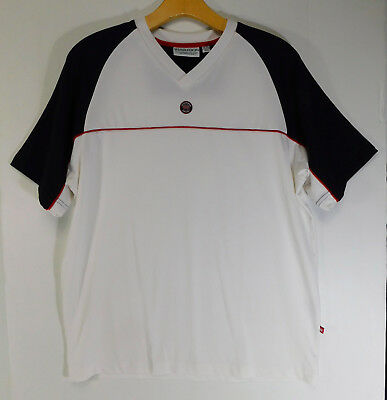 WIMBLEDON All England Lawn Tennis Croquet Club JERSEY V-Neck SHIRT Logo MENS XS