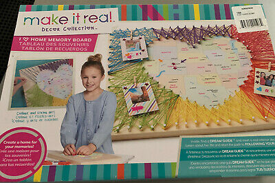 IHeart Home Memory Board by Make It Real Girls String Art Craft Collage NEW