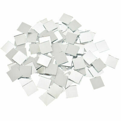 100 Pcs Mini Mirror Mosaic Tiles Glass DIY Artwork Supplies Home Wall Decor US
