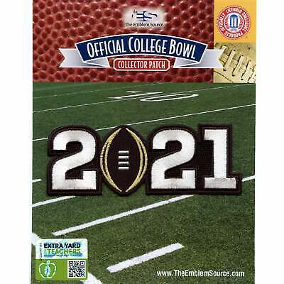 2021 College National Championship Game Jersey Patch Ohio State Alabama
