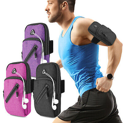 Gym Running Jogging Sport Armband Case Exercise Arm Pouch Holder Key Bag Cover
