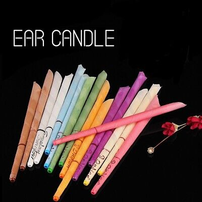 MICHAEL CANDLES- 10 Scented Beeswax Candle Hollow Cone 2 Disc Ear wax Candles