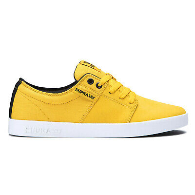 SUPRA Stacks II Mens Low Top Canvas Skate Shoes - Yellow  Black - PICK SIZE