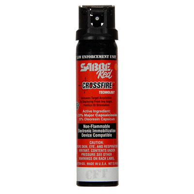 Sabre Red 52CFT30-G Crossfire Gel (MK-4) Pepper Spray, 1.33% MC, 3.0 Ounces