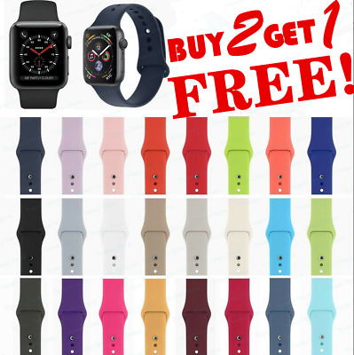 Silicone Band Strap for Apple Watch Series 12345 iWatch Sports 38404244mm