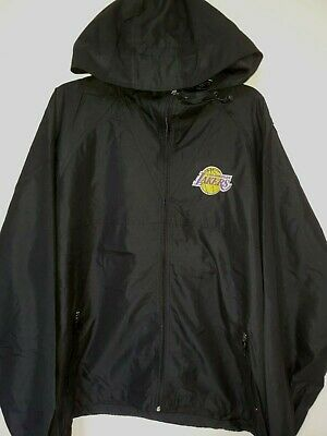 0903 Mens NBA Team Apparel NFL LOS ANGELES LAKERS Full Zip HOODED JACKET New