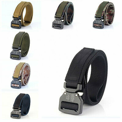 Tactical Belt Stylish Military Designed Nylon with Heavy Duty Buckle For Men