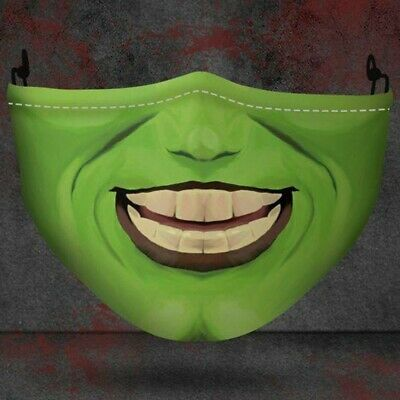 The Mask Stanley Ipkiss Funny Halloween Jim Carrey Grimace Adult Scary Face Mask
