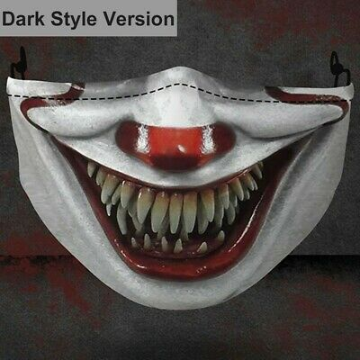 Dark Style Stephen King Pennywise IT Clown Horror Halloween Scary Face Mask