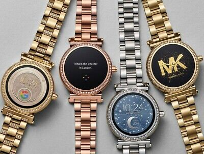 Michael Kors Sofie Stainless Steel Touchscreen Smartwatch IOS Android Wear Alert