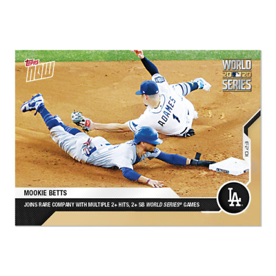 2020 TOPPS NOW  457 MOOKIE BETTS WORLD SERIES 2- Hits SB LOS ANGELES DODGERS