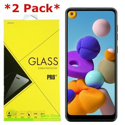 2-Pack Tempered Glass Screen Protector For Samsung Galaxy A21  A21S