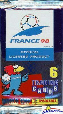1998 Panini World Cup Soccer HOBBY Factory Sealed Foil PACK-6 Cards VERY Rare