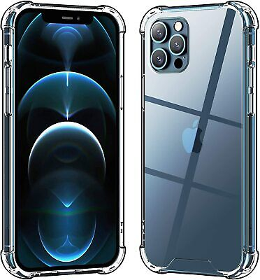 CLEAR Case For iPhone 12 11 Pro Max Xr Xs 6 6s 8 7 Plus SE Mini Shockproof Cover