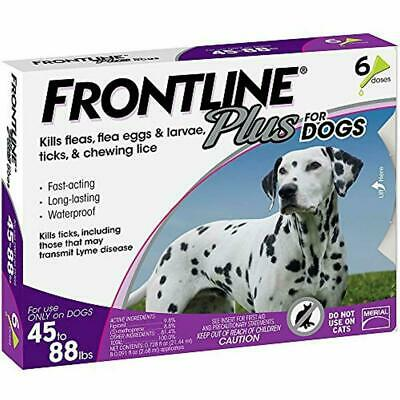 Frontline Plus Flea and Tick Treatment Control for Large Dog45-88 lbs 6 Doses