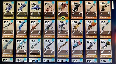 Any 50x Fortnite Save The World 130 Weapons- See Description